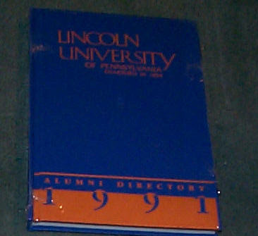 Image for LINCOLN UNIVERSITY OF PENNSYLVANIA ALUMNI DIRECTORY 1991