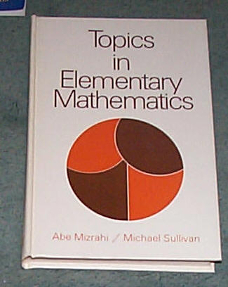 Image for TOPICS IN ELEMENTARY MATHEMATICS