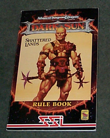 Image for SHATTERED LANDS - DARK SUN - ADVANCED DUNGEONS AND DRAGONS 2 ND EDITION RULE BOOK